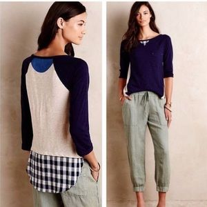 Anthropologie Tops - Anthropologie   Little Yellow Button Backstory Tee